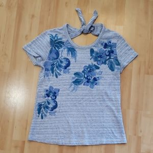Lucky Brand keyhole, tie back Top